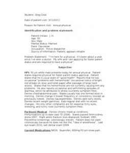 Good example SOAP note | // d r . s // | Pinterest | Soaps, Note ...