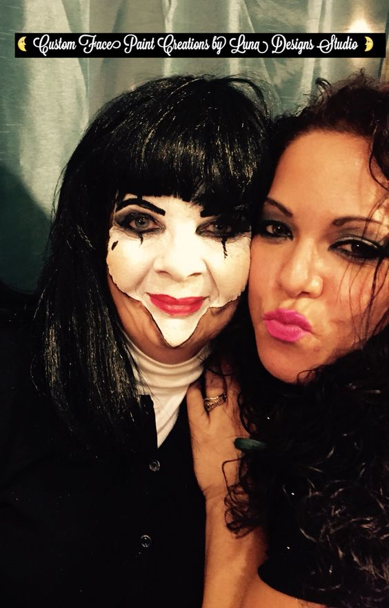 """Look: Madame Mini Mime Custom Creepy Creations and Extreme Body Art by Luna Designs Studio """"Let Luna Create a Beautiful Work of Art For You or On You"""" #LoveMyLuna"""