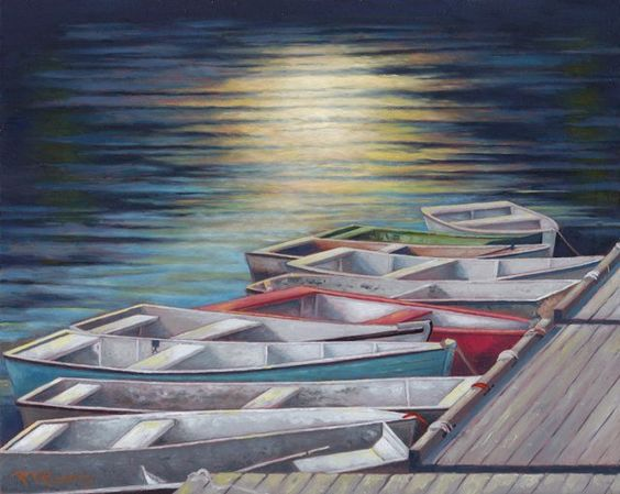 """""""all in a row"""" on copper by Ron Rudat"""