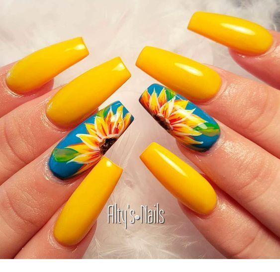 Best Yellow Nail Art Designs For Summer 2019 Miladies Net