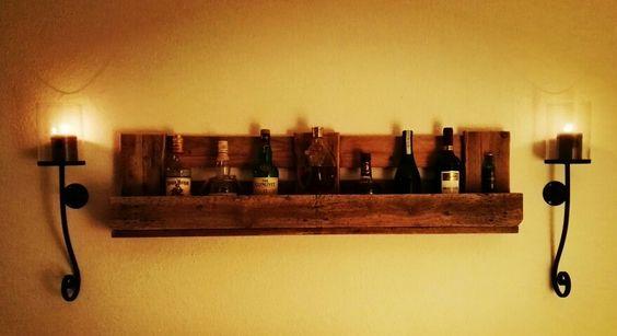 Weinregal whiskyregal aus europalette diy m bel mit oder aus europaletten pinterest selber - Weinregal europalette ...