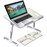 Callas Adjustable Portable Laptop Table Bed Table Notebook Stand Laptop Standing Desk Ca6 Grey Amazon Laptop Table For Bed Laptop Desk For Bed Bed Table