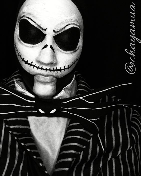 Jack Skellington Nightmare before Christmas Makeup by @chayamua ...