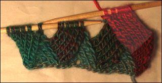 Entrelac Scarf Knitting Pattern ~ Entrelac Knitting