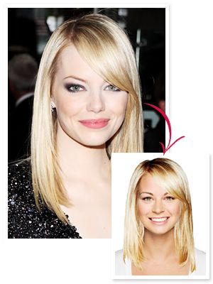Our readers loved #EmmaStone's sleek blowout so much, it racked up nearly 10,000 try-ons in our Hollywood Makeover Tool, making it the most popular of the week! http://news.instyle.com/2012/07/08/emma-stone-try-on-hairstyle/#