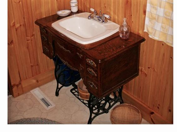 Tom Dewey Sewing Machine Vanity