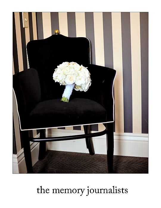 Love this chair.   Bouquet by: Botanica Floral Designs  Photography by: The Memory Journalists Team