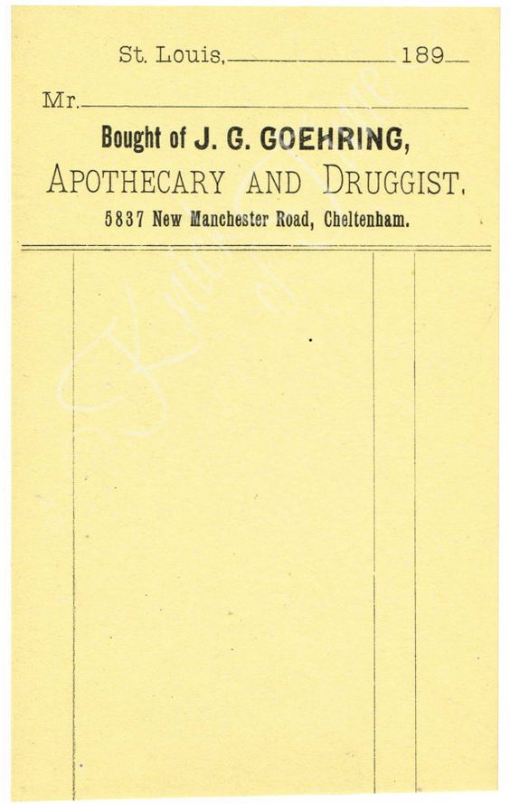 Digital Download - Antique Apothecary Receipt by KnickofTime