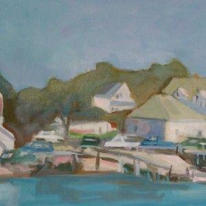 Hopkins Wharf by Jillian Herrigel, Dimensions: 12 x 24 in, Price: $400.00