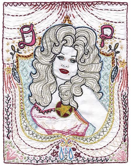 Dolly Parton Embroidery