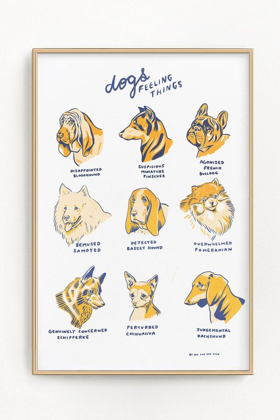 Dogs Feeling Things Riso Print 11 X 17 In 2020 Riso Print Risograph Print Boys Artwork