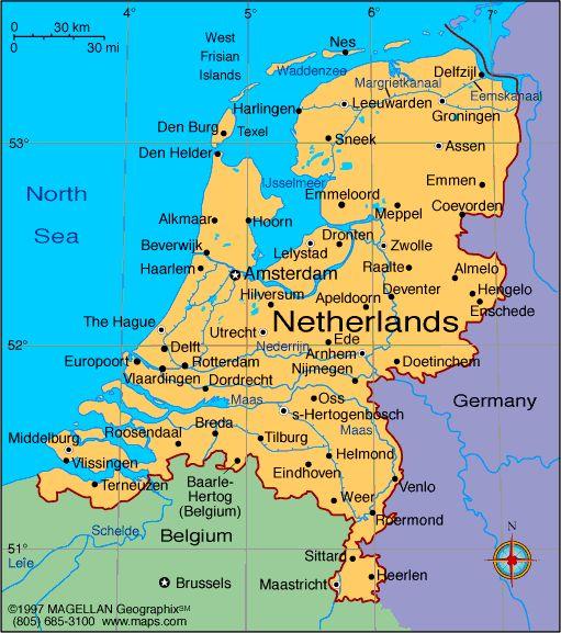 Netherlands   map netherlands netherlands profile history government economy ...