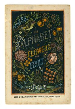 The alphabet of flowers and fruit (cover) ||  Dean & Son