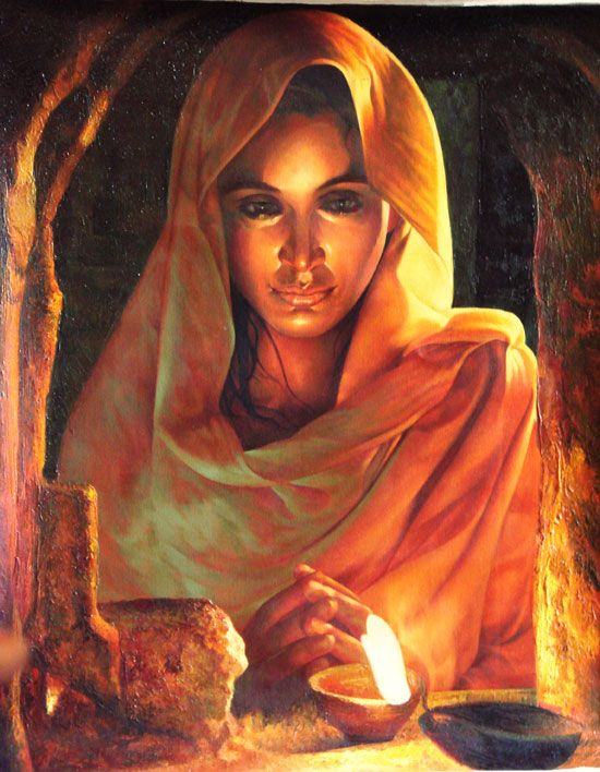 Indian art oil painting on canvas painting pinterest for Best canvas painting images