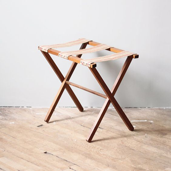 Luggage Rack Vintage Luggage And Guest Rooms On Pinterest