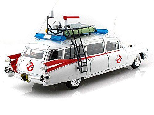 Cadillac Ambulance ecto blanco con figura 1 año de construcción 1959 película Ghostbusters 1984