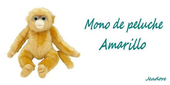 Mono de peluche amarillo