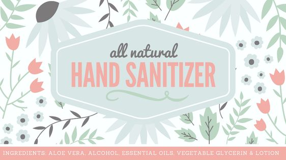 Natural Hand Sanitizer Label Free Printable With Full Recipe With