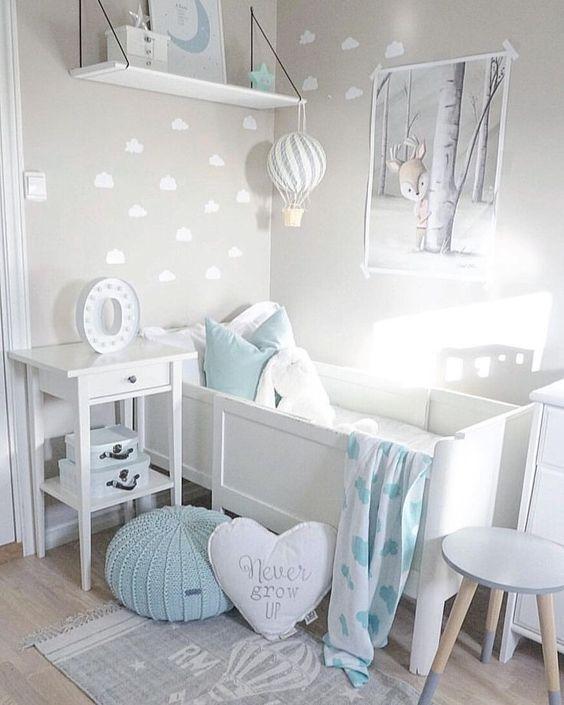 Chambre Bebe Bleue Enfant En 2020 Chambre Bebe Gris Chambre