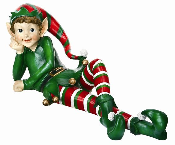 Laying Elf Statue Christmas Decoration