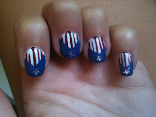 Fourth of July Nail Design Tutorial