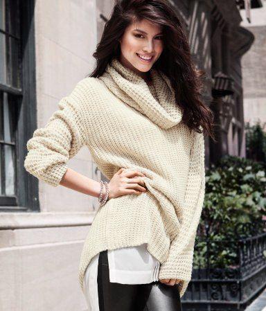 ecru knitted sweater