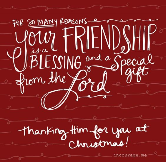 Your Friendship is a Blessing Merry Christmas