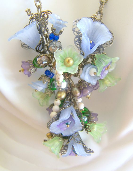 Victorian Floral Necklace