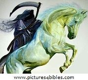 Revelation 6:8 - So I looked, and behold, a pale horse.