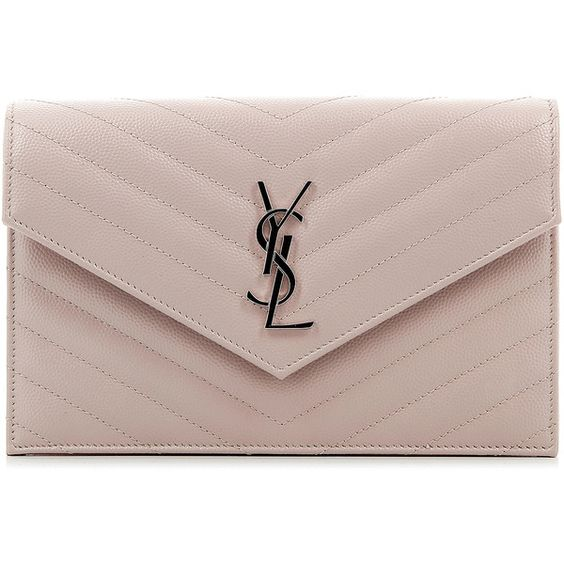 Saint Laurent Monogramme Envelope Wallet (2.960 BRL) ❤ liked on Polyvore featuring bags, wallets, brown wallet, logo bags, yves saint laurent, yves saint laurent wallet and yves saint laurent bags