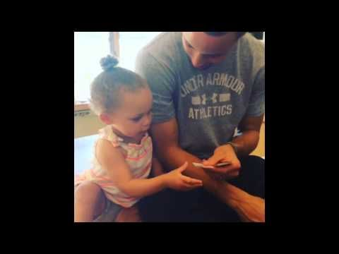 Riley Curry Steals the Show During Stephen Curry's MVP Acceptance Speech - YouTube
