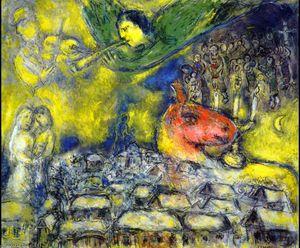 Ange sur Vitebsk - (Marc Chagall)