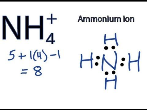126 Nh4 Lewis Structure How To Draw The Dot Structure For Nh4 Ammonium Ion Youtube Molecular Geometry Lewis Chemistry