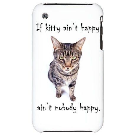 Aint Happy iPhone 3G Hard Case american short hair cat $24.50