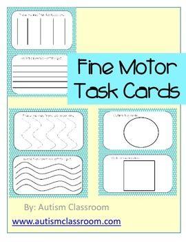 Autism Special Education Kindergarten Fine Motor Task
