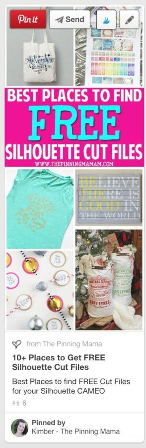 Get FREE Silhouette Cut Files Here!  So cute!