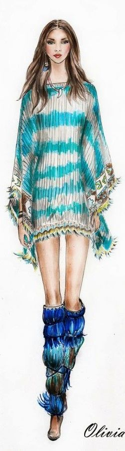 Fashion Illustration Watercolor 2015-2016: