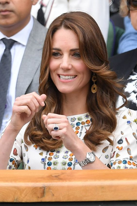 Pin for Later: The Duchess of Cambridge Nearly Steals the Show at Wimbledon With Her Adorable Cheerleader Antics