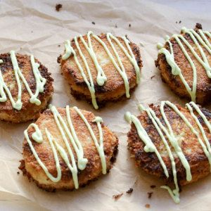 Coconut Ginger Crab Cakes with Avocado Dressing