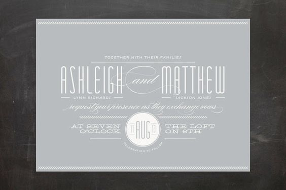 Twine wedding invite from Minted