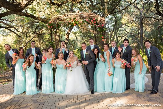 Cute bridal party pose - Houston wedding photography - MD Turner Photography