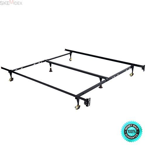 Skemidex Metal Bed Frame Adjustable Queen Full Twin Size W Center