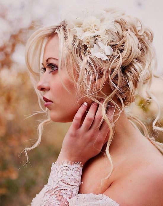 Wedding flower bridal hair piece headpiece -- Flora Bond -- Jaclyn Davis Photography