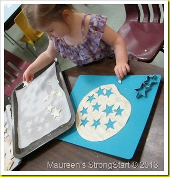 Tortilla Stars and Snowflakes: Topped with confectioners sugar! Yummy fun!