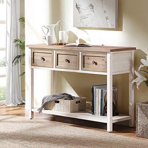 Furnichoi Rustic Sofa Table Farmhouse Console Table For Https