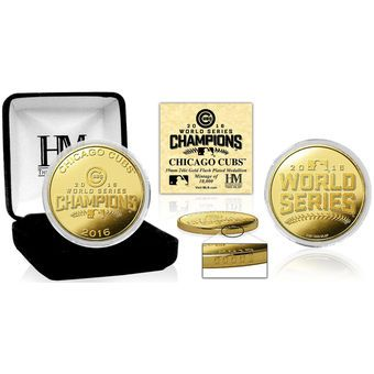 Chicago Cubs Highland Mint 2016 World Series Champions Gold Collector Coin