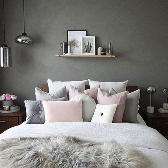 Pink White And Grey Girl S Bedroom Pastel Bedroom Decor Inspiration Small Bedroom Ideas Bedroom Ideas Fo Grey Bedroom Decor Pink Bedroom Decor Gray Bedroom