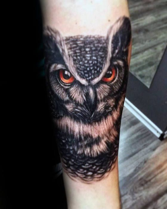 40 Owl Forearm Tattoo Designs For Men Feathered Ink Ideas Owl Forearm Tattoo Owl Tattoos On Arm Forearm Tattoo Design