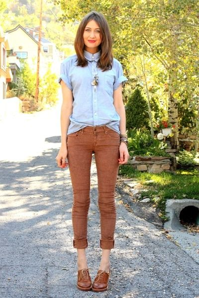 Sky-blue-vintage-top-brown-raven-denim-pants-brown-bp-loafers