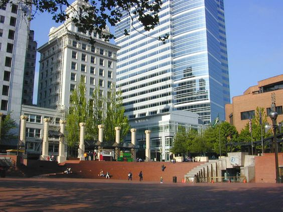 A view of Pioneer Square in Portland, Oregon